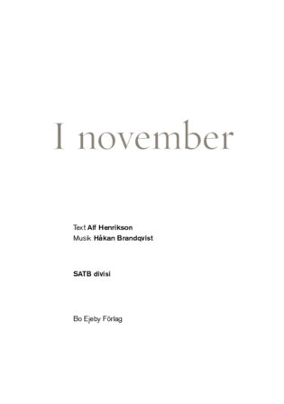 I november